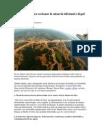 Diez Razones Para Rechazar La Minería Informal e Ilegal en Nuestro País