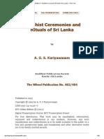 Buddhist Ceremonies & Rituals of Sri Lanka — Plain Text