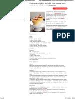 Cupcake Salgado de Fubá Com Carne Seca