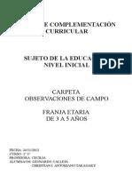 Carpeta Observaciones de Campo - Sujeto Educación Nivel Inicial.odt