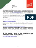 Strathclyde Business School Undergraduate/Integrated Masters Student Handbook 2013/2014