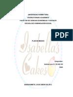 Isabella_s Cakes Plan de Medios