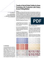 transfer of inkjet textiles into production with screen printing