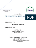 telecom sector and ptcl valuation