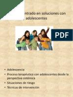 Modelo Centrado en Soluciones Con Adolescentes