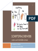 Praxisseminar 2011 Schriftspracherwerb Stechow