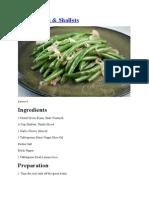 Green Beans and Shallots (Vegetarian)
