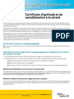 Chronique 9 Certificats Aptitude Surete