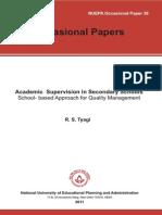 Academic School Supervison