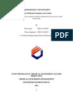 laporan praktikum massa jenis dan viskositas