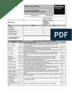 LIghting Director Risk Assessment Template