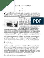 Titanic a Modern Myth