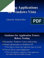Testing Applications on Windows Vista