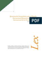 Aproximación Hermenéutica entre el Derecho Internacional Humanitario y de los Derechos Humanos
