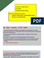 Clase N_ 14. Epistemología de Kant.