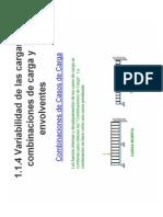 1.1.4 Variabilidad de Las Cargas, Combinaciones de Carga y Envolventes