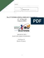 IBO2010 Practical 1
