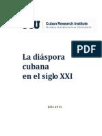 """Informe """"La diáspora cubana en el siglo XXI"""""""