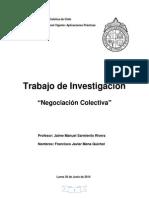 Trabajo Negociación Colectiva - Francisco Javier Mena Quichel