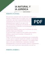 Persona Natural y Persona Juridica