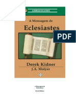 196160006 Derek Kidner a Mensagem de Eclesiastes