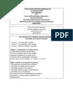 La Población Afrocolombiana en Legislacion Nacional
