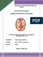 Liquidez de La Bolsa de Valores y Crecimiento Economico Del Peru - Victor Condori Huaccanqui