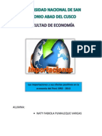 Las Importaciones en El Perú