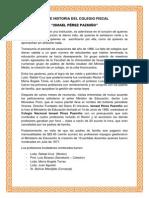 Breve Historia Del Colegio Fiscal Mixto Ismael Perez Pazmiño (Guayaquil- Ecuador