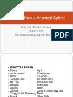 Laporan Kasus Anestesi Spinal
