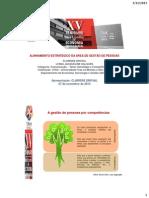 ALINHAMENTO ESTRATÉGICO DA ÁREA DE GESTÃO DE PESSOAS