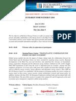 Bucharest Forum Energy 2014 Draft Agenda May 9 2014