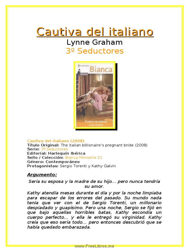 cautiva del italiano lynne graham