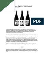 Manual Para Crear Etiquetas de Productos