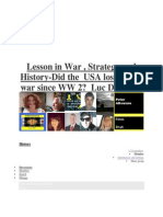 Lesson in War Strategy and History Did the USA Lose Every War Since WW 2 Luc Devincke