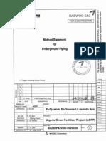 Method Statement for Underground Piping Fc