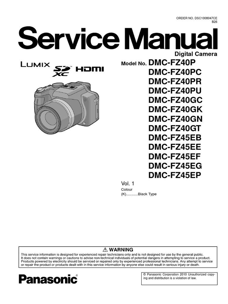 dmc fz45 service manual electrostatic discharge electrical connector rh scribd com panasonic lumix dmc fz45 mode d'emploi panasonic dmc fz45 manual