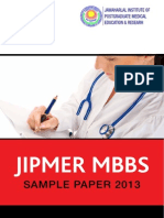 JIPMER MBBS 2013 Last Year Question Paper (1)