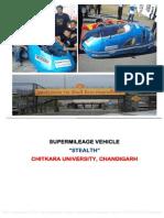 4. Stealth Supermileage Vehicle for Shell Eco-Marathon America 2009