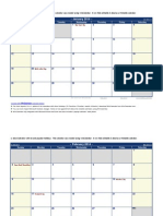 2014 Monthly Calendar With Holidays