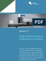 Biochemical assays in HCS format