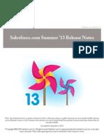Salesforce Summer13 Release Notes