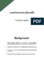 Enterococcus faecalis-literature update