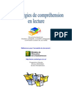Cahier Des Strategies de Comprehension en Lecture