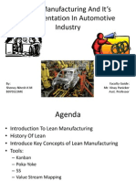 Lean Manufacturing and It's Implementation in Automotive Industry