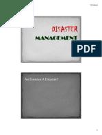 Disaster Management Plan
