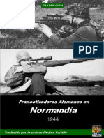 Francotiradores Alemanes en Normandia 1944