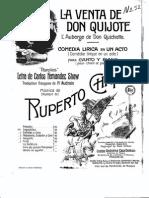 Zarzuela - Partituras - La Venta de Don Quijote - Chapí - Partitura Canto y Piano
