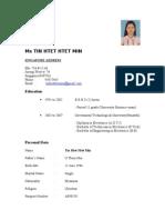 Tinhtethtetmin's Resume