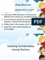 Handling Confidentiality Among Teachers